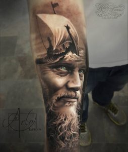 tatuaje vikings galeon pirata